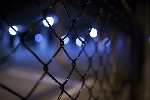 fence at night