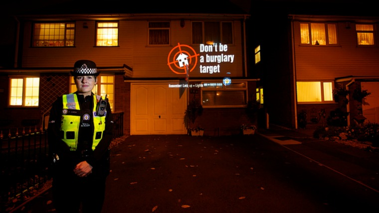 don't be burglary target, security system